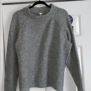 free people mock neck sweater